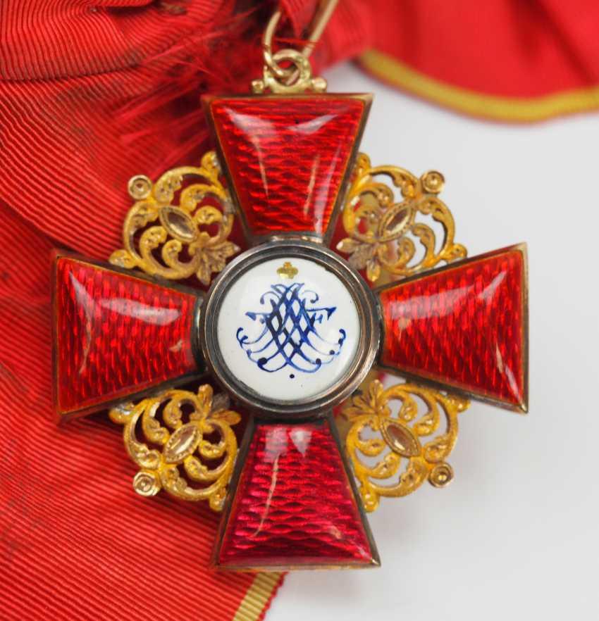 Russia: order of St. Anna, 2. Model (1810-1917), 1. Class Gem. - photo 3