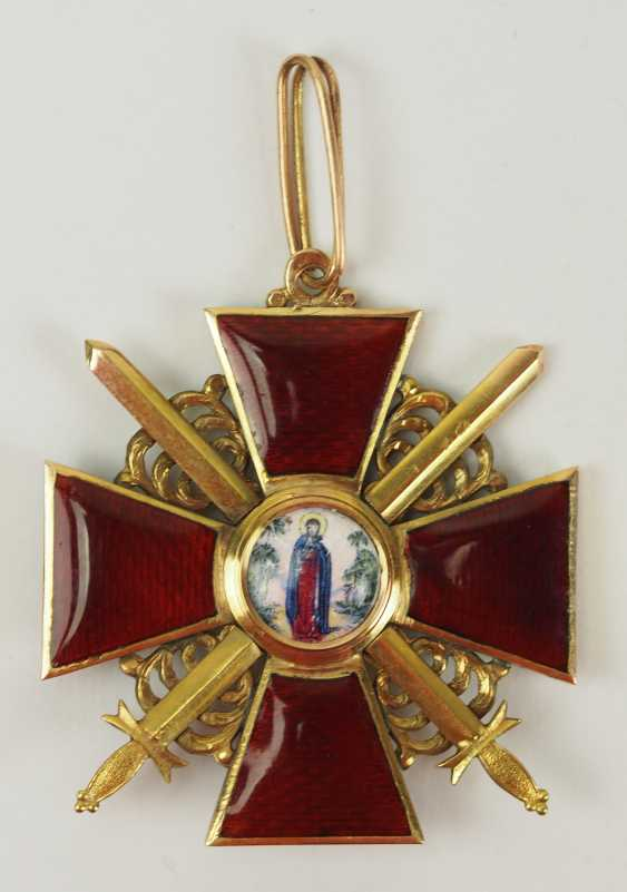 Russia: order of St. Anna, 2. Model (1810-1917), 2. Class with swords. - photo 1