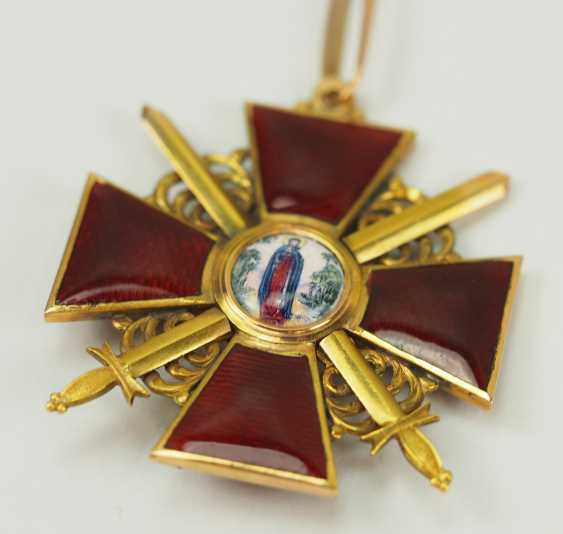 Russia: order of St. Anna, 2. Model (1810-1917), 2. Class with swords. - photo 2