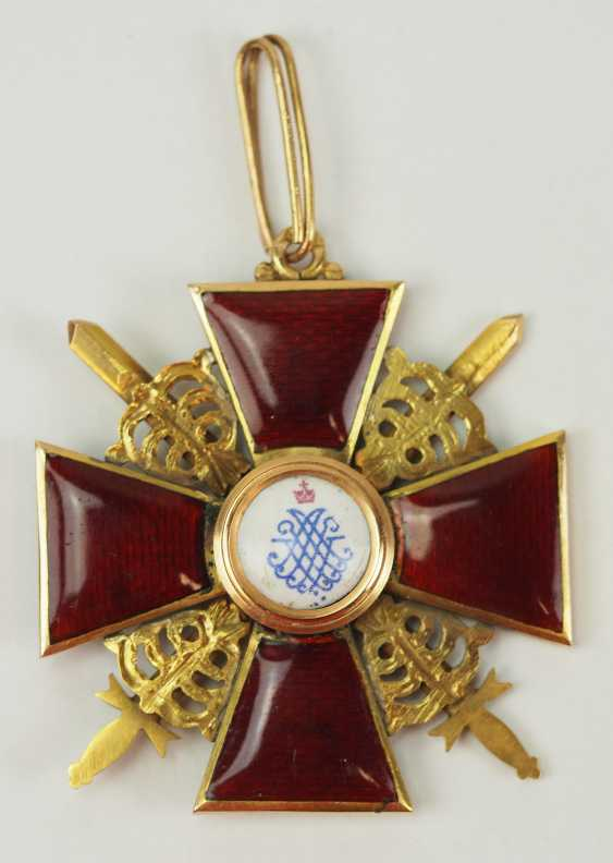 Russia: order of St. Anna, 2. Model (1810-1917), 2. Class with swords. - photo 3
