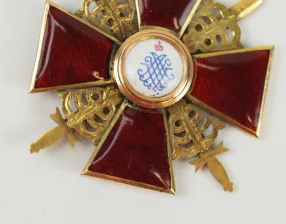 Russia: order of St. Anna, 2. Model (1810-1917), 2. Class with swords. - photo 4