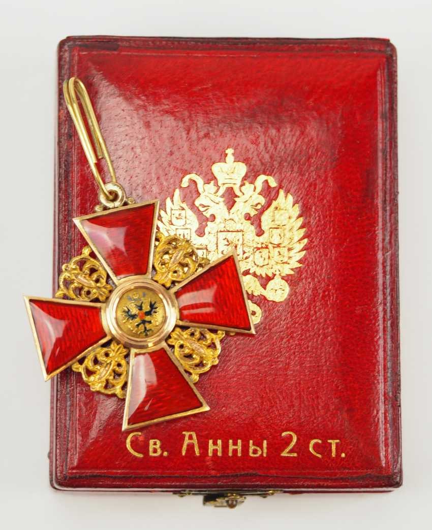 Russia: order of St. Anna, 2. Model (1810-1917), 2. Class, for Non-Christians, in a case. - photo 1