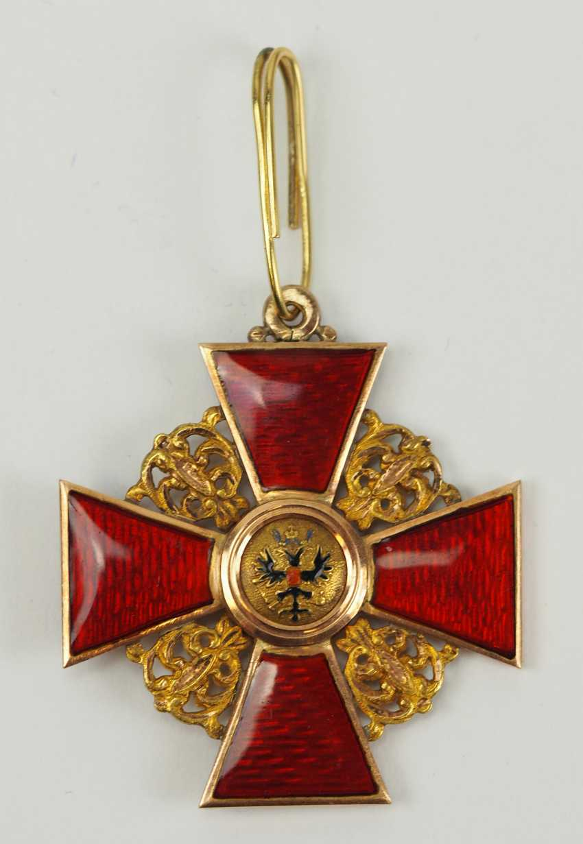 Russia: order of St. Anna, 2. Model (1810-1917), 2. Class, for Non-Christians, in a case. - photo 2