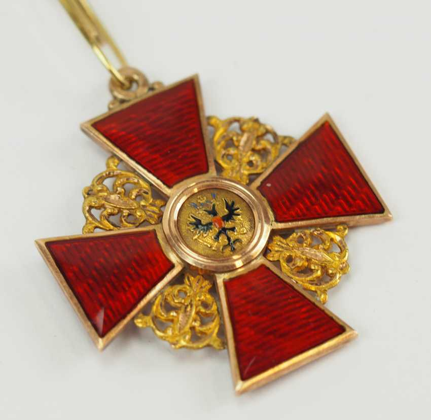 Russia: order of St. Anna, 2. Model (1810-1917), 2. Class, for Non-Christians, in a case. - photo 3