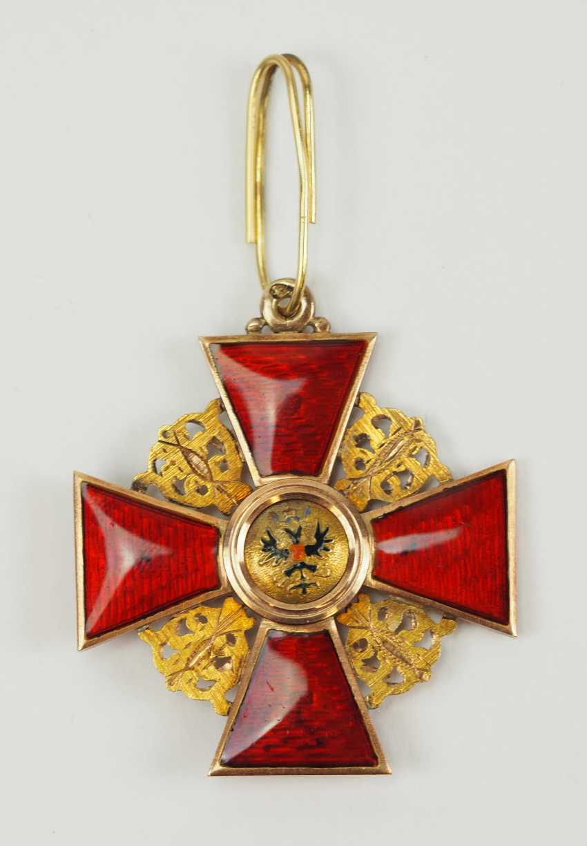 Russia: order of St. Anna, 2. Model (1810-1917), 2. Class, for Non-Christians, in a case. - photo 4