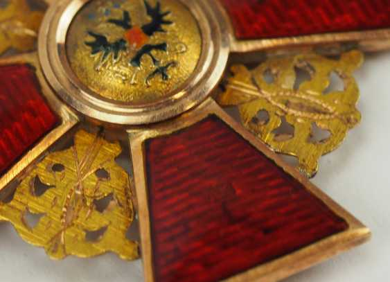 Russia: order of St. Anna, 2. Model (1810-1917), 2. Class, for Non-Christians, in a case. - photo 5