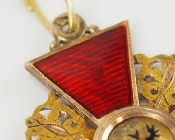 Russia: order of St. Anna, 2. Model (1810-1917), 2. Class, for Non-Christians, in a case. - photo 6