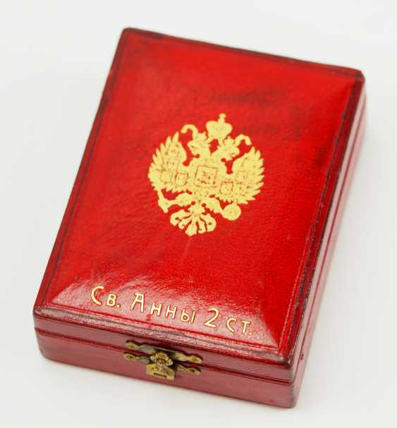 Russia: order of St. Anna, 2. Model (1810-1917), 2. Class, for Non-Christians, in a case. - photo 8