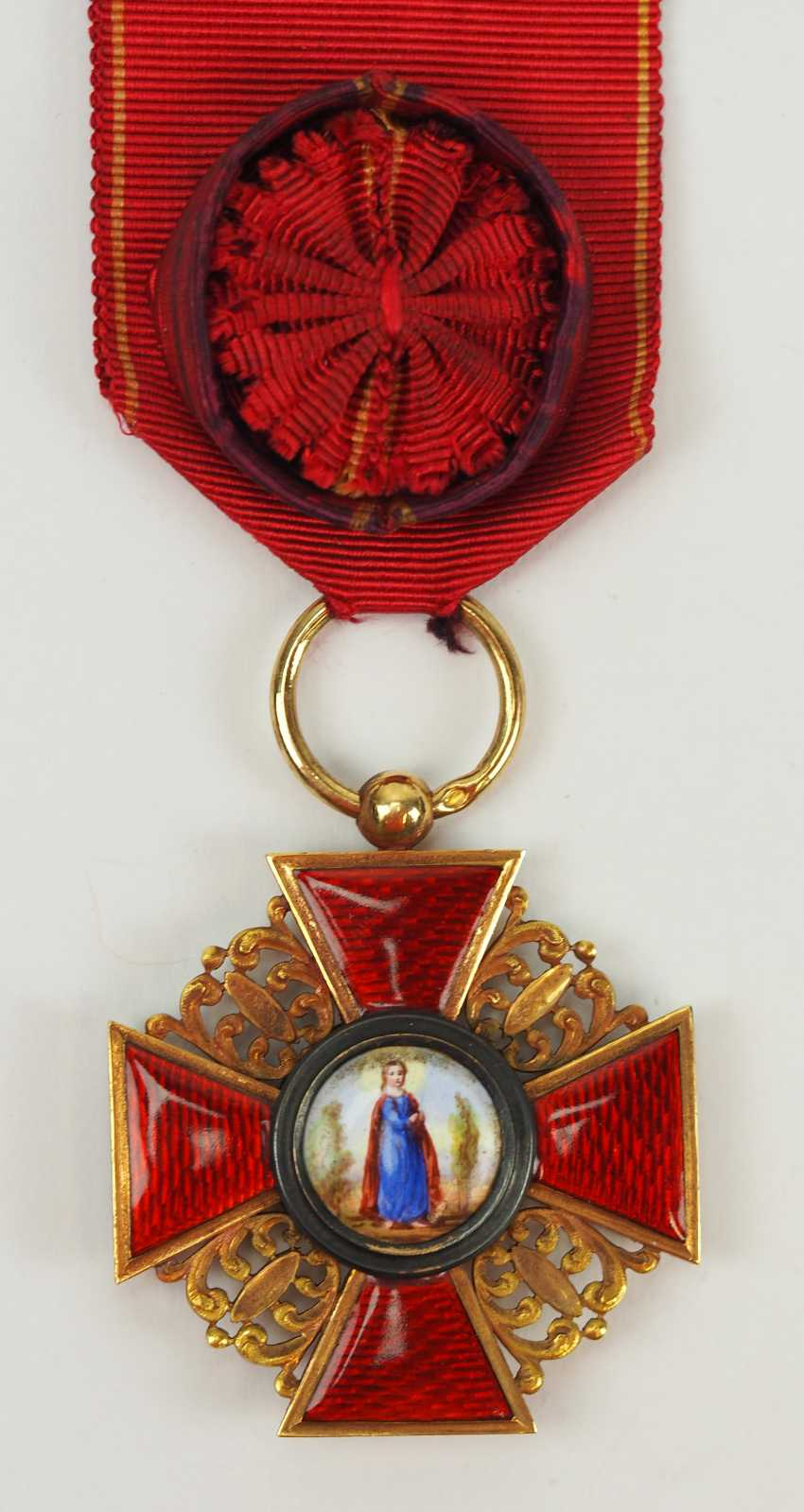 Russia: order of St. Anna, 2. Model (1810-1917), 3. Class. - photo 1