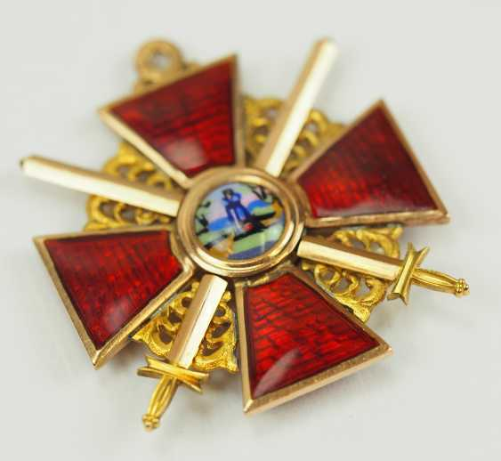Russia: order of St. Anna, 2. Model (1810-1917), 3. Class with swords. - photo 2
