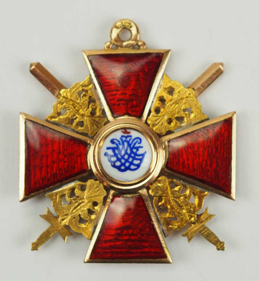 Russia: order of St. Anna, 2. Model (1810-1917), 3. Class with swords. - photo 3