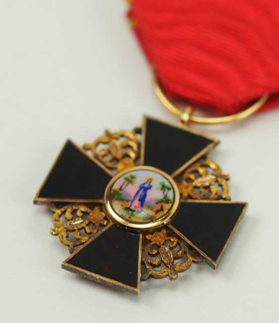Russia: order of St. Anna, 2. Model (1810-1917), semi-miniature with black enamel. - photo 2