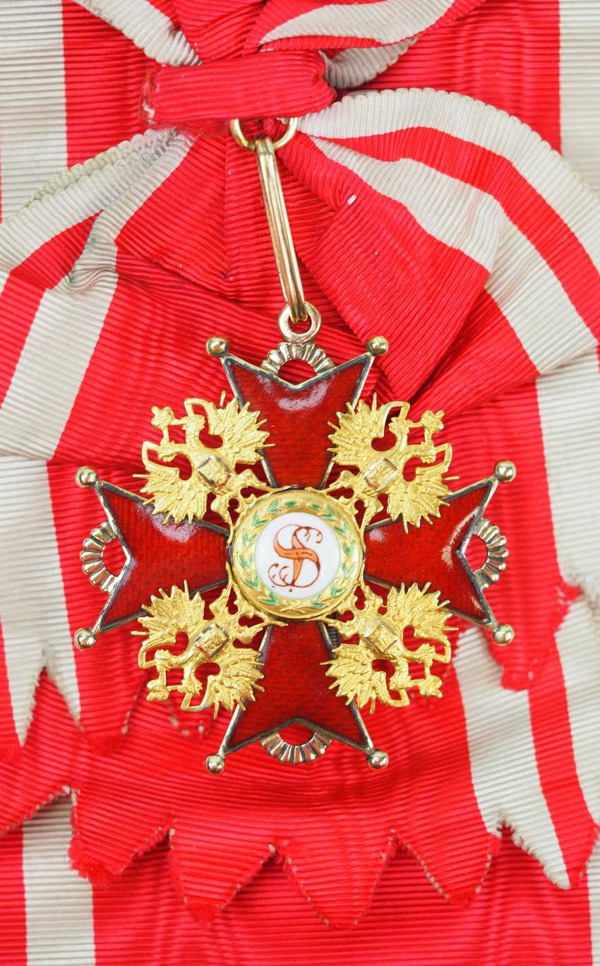 Russia: Imperial and Royal order of Saint Stanislaus, 2. Model, 2. Type (approx. 1841-1917), 1. Class Gem. - photo 1