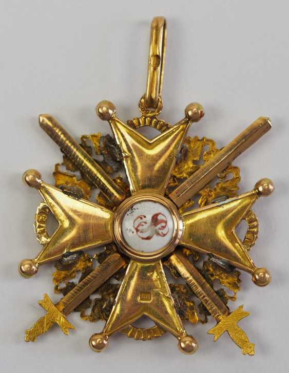 Russia: Imperial and Royal order of Saint Stanislaus, 2. Model, 2. Type (approx. 1841-1917), 3. Class, with swords. - photo 3