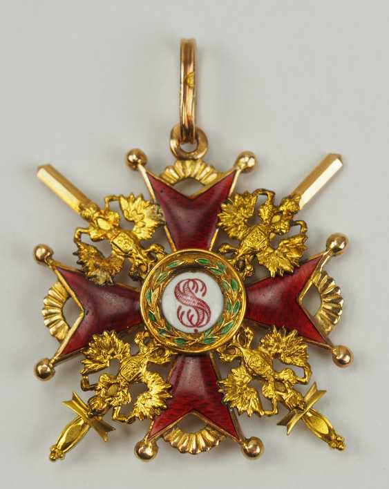 Russia: Imperial and Royal order of Saint Stanislaus, 2. Model, 2. Type (approx. 1841-1917), 3. Class, with swords. - photo 1
