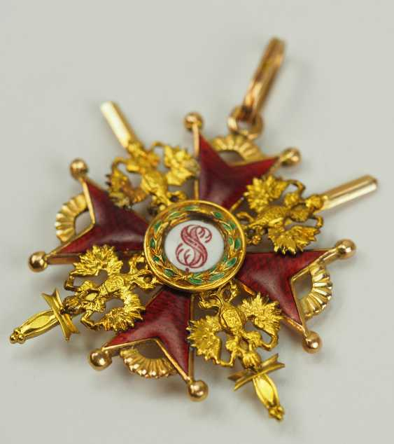 Russia: Imperial and Royal order of Saint Stanislaus, 2. Model, 2. Type (approx. 1841-1917), 3. Class, with swords. - photo 2