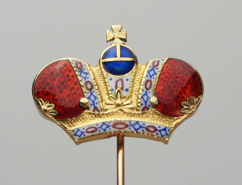 Russia: a Lapel pin with the Imperial crown. - photo 1