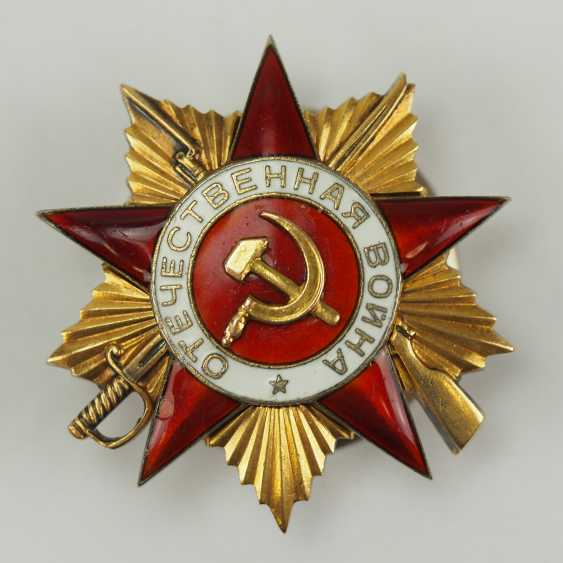 Soviet Union: order of the Patriotic war, 2. Model, 1. Class. - photo 1