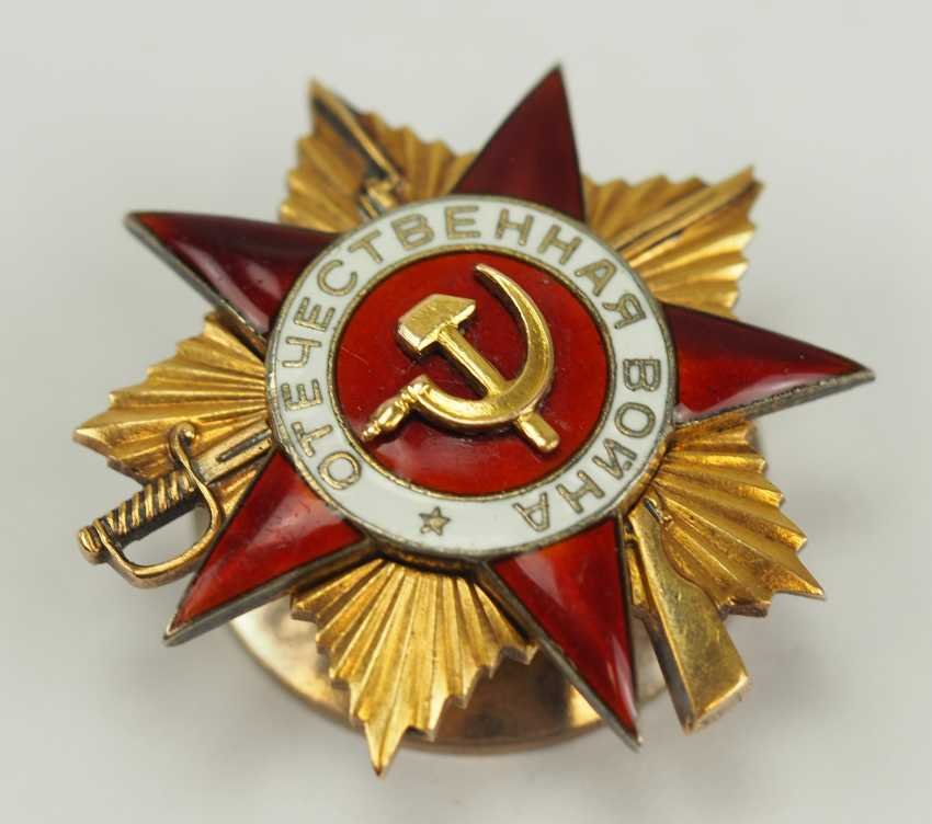 Soviet Union: order of the Patriotic war, 2. Model, 1. Class. - photo 3