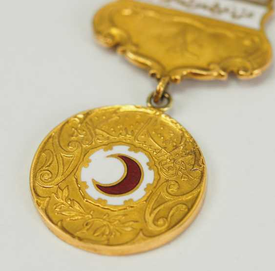 Turkey: medal of the Red Crescent moon, 2. Model in Gold, with oak-break. - photo 2