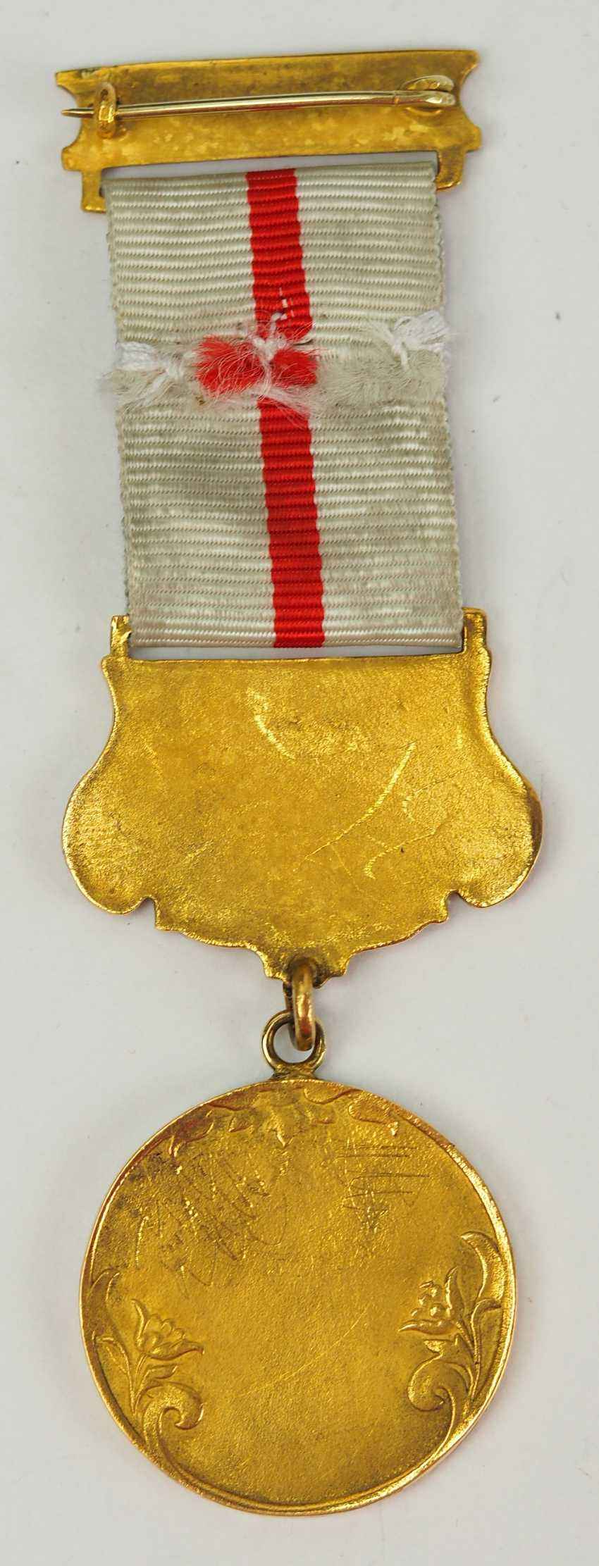 Turkey: medal of the Red Crescent moon, 2. Model in Gold, with oak-break. - photo 4