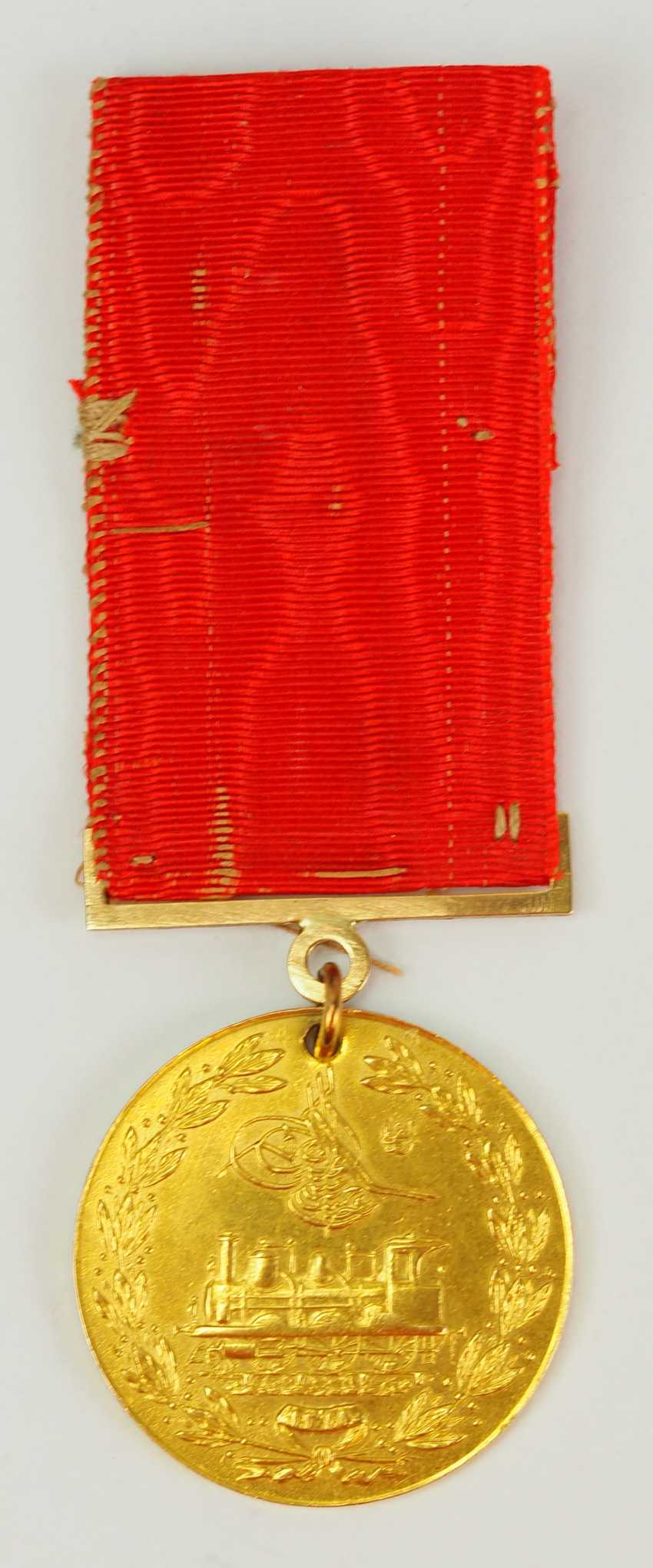 Turkey: medal for memory to the construction of the Hejaz railway, in Gold. - photo 4