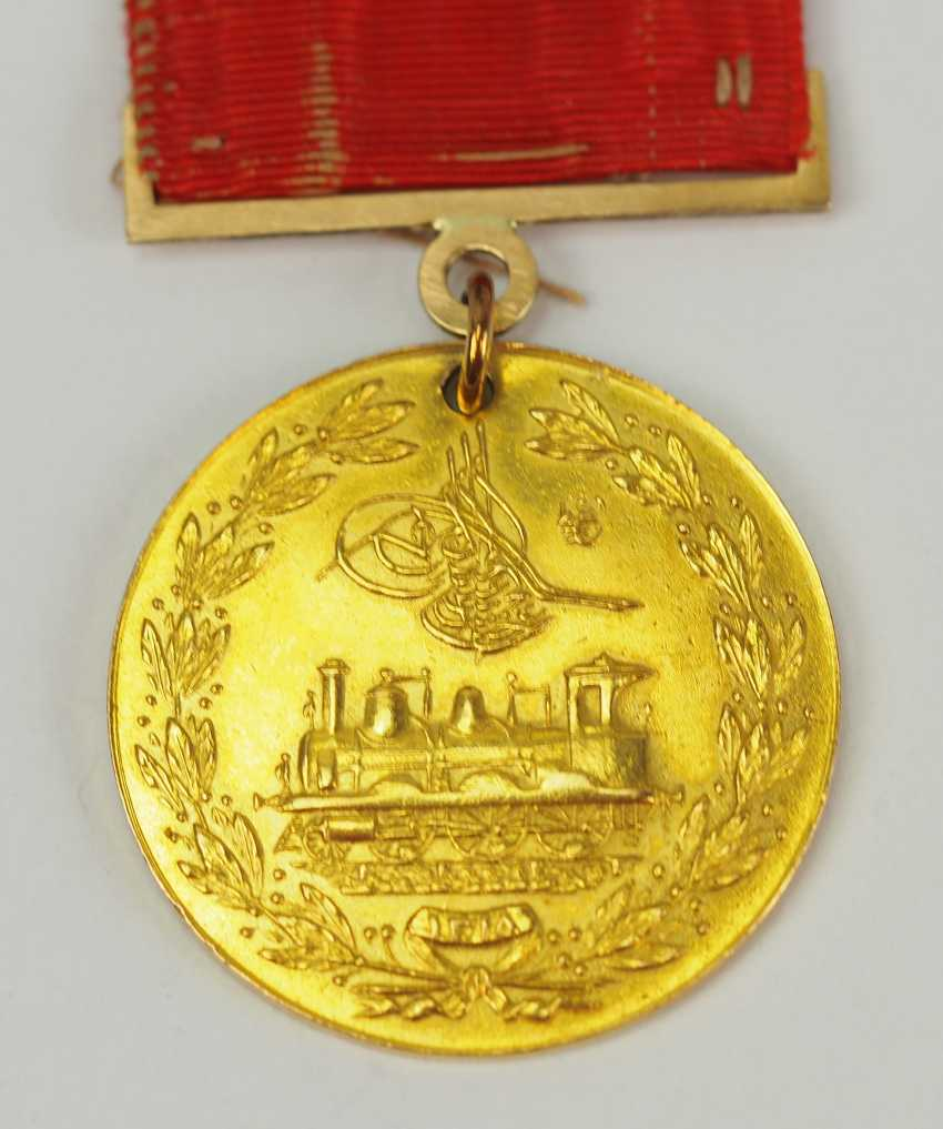 Turkey: medal for memory to the construction of the Hejaz railway, in Gold. - photo 1