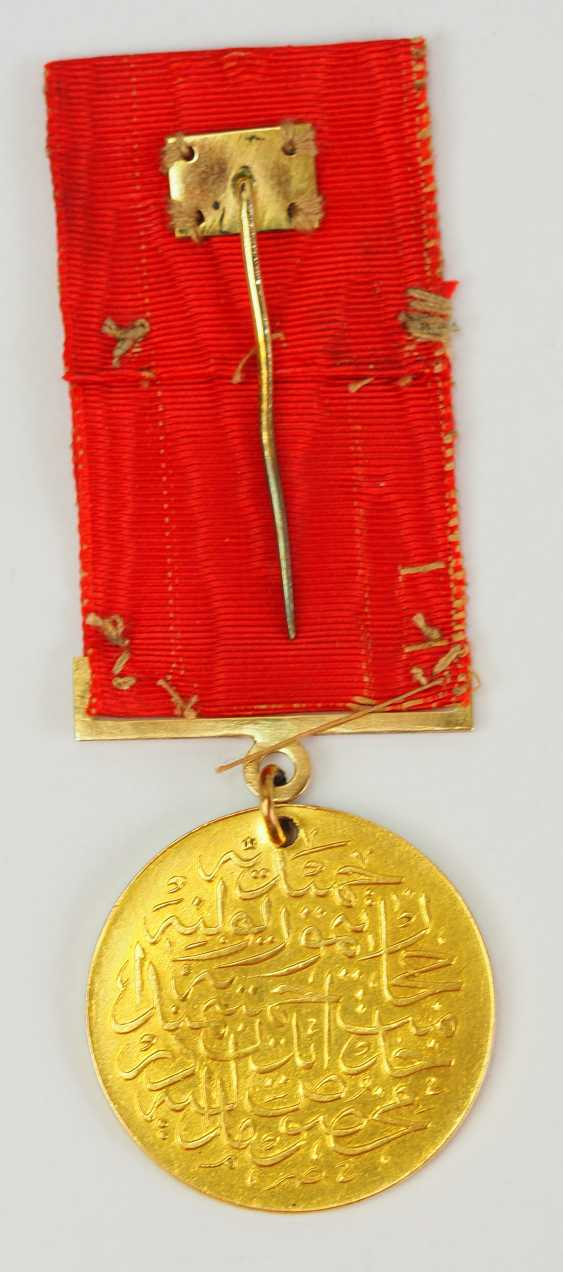 Turkey: medal for memory to the construction of the Hejaz railway, in Gold. - photo 2