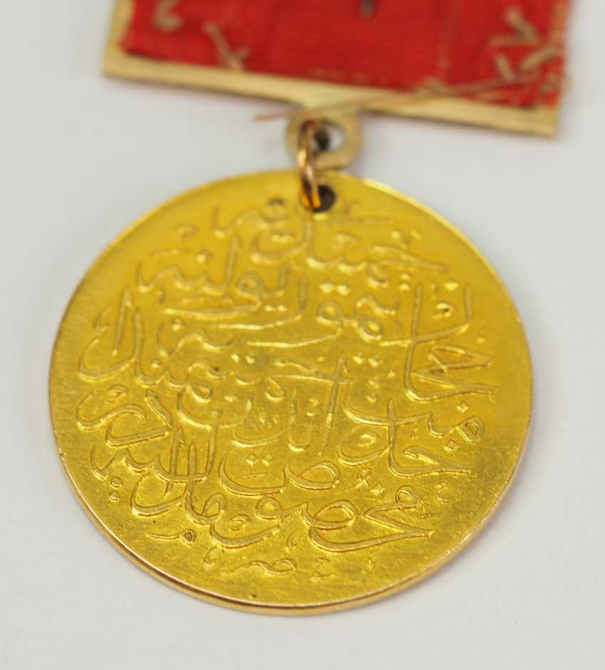 Turkey: medal for memory to the construction of the Hejaz railway, in Gold. - photo 3