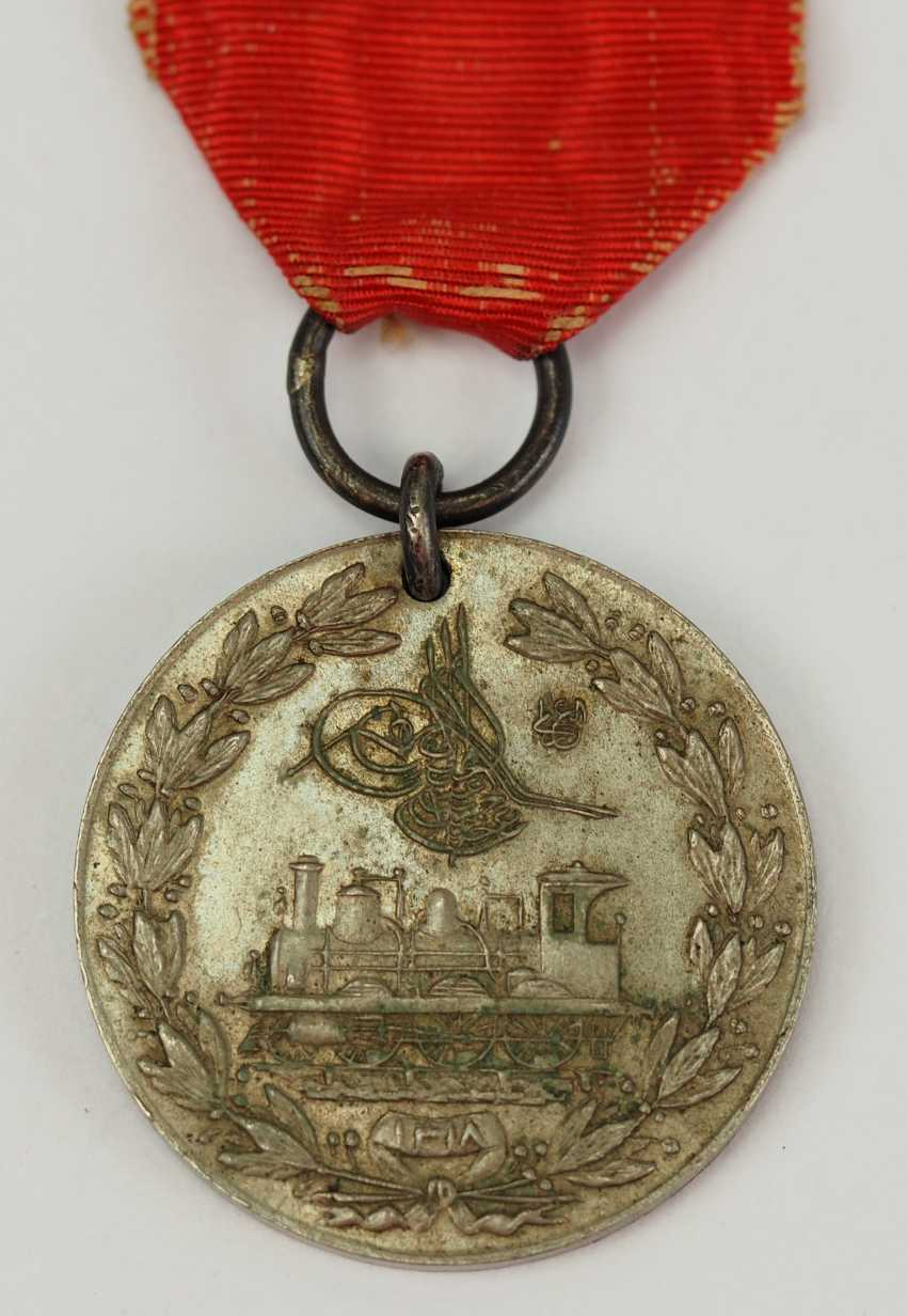 Turkey: medal for memory to the construction of the Hejaz railway, in silver. - photo 1