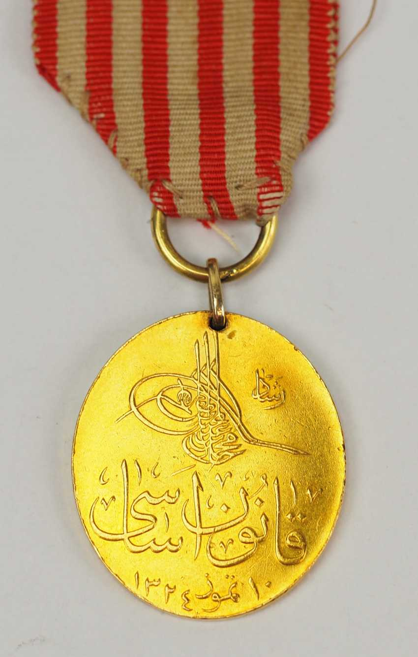 Turkey: constitutional medal 1909, Gold. - photo 1