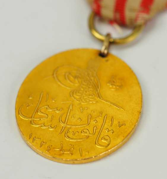 Turkey: constitutional medal 1909, Gold. - photo 2