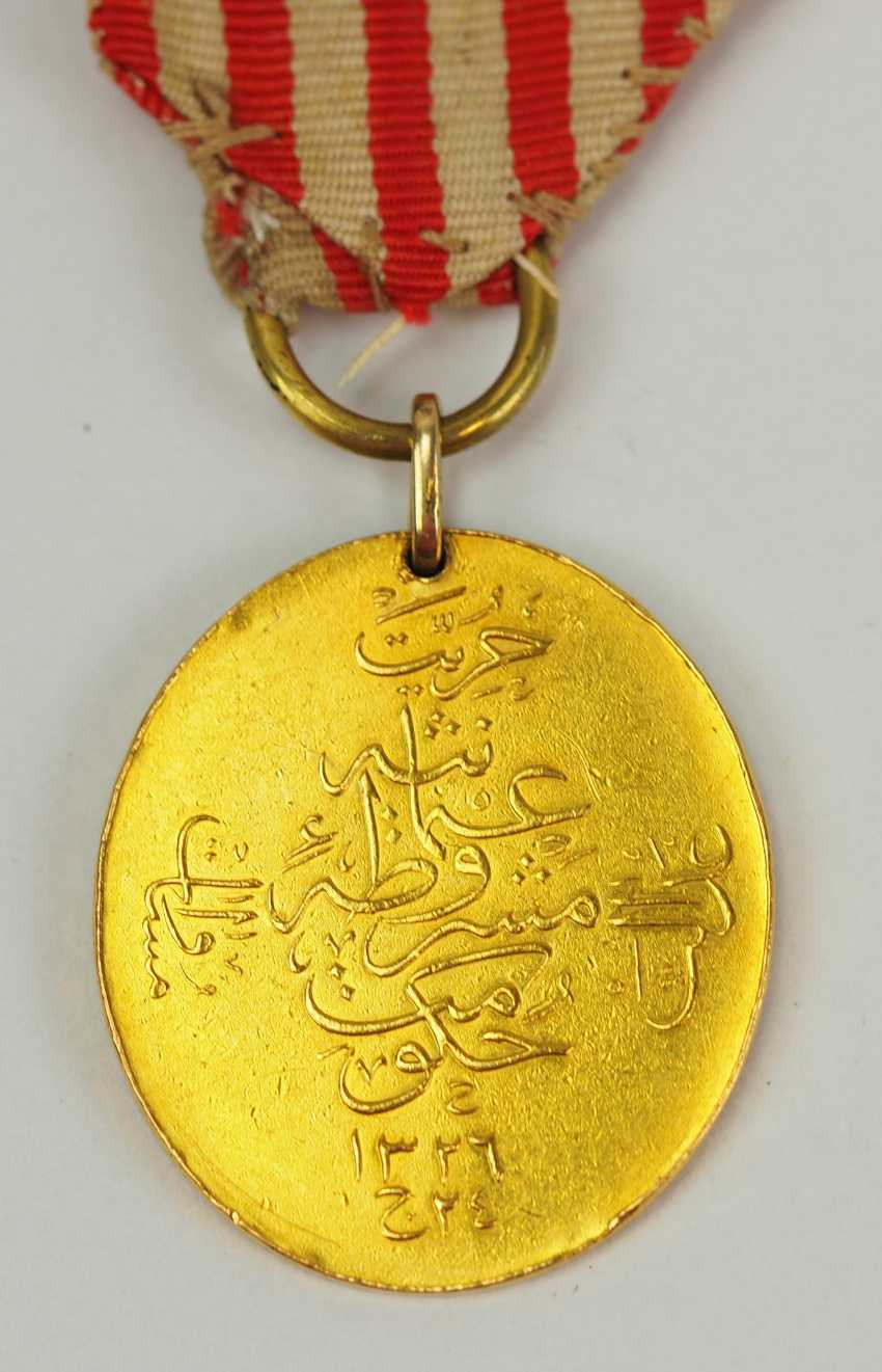 Turkey: constitutional medal 1909, Gold. - photo 3