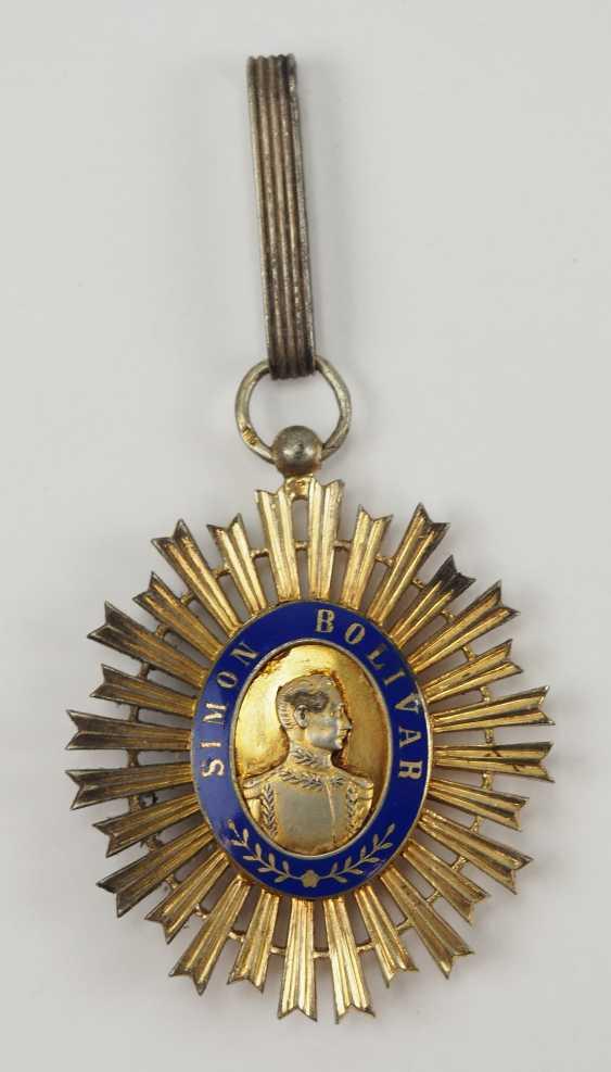 Venezuela: order of the liberator / order of the bust of Bolivar, knight commander's cross. - photo 1