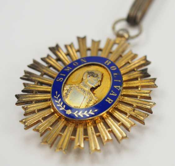 Venezuela: order of the liberator / order of the bust of Bolivar, knight commander's cross. - photo 2