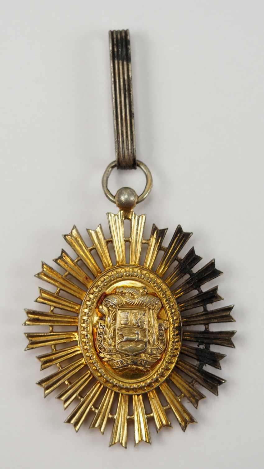 Venezuela: order of the liberator / order of the bust of Bolivar, knight commander's cross. - photo 3