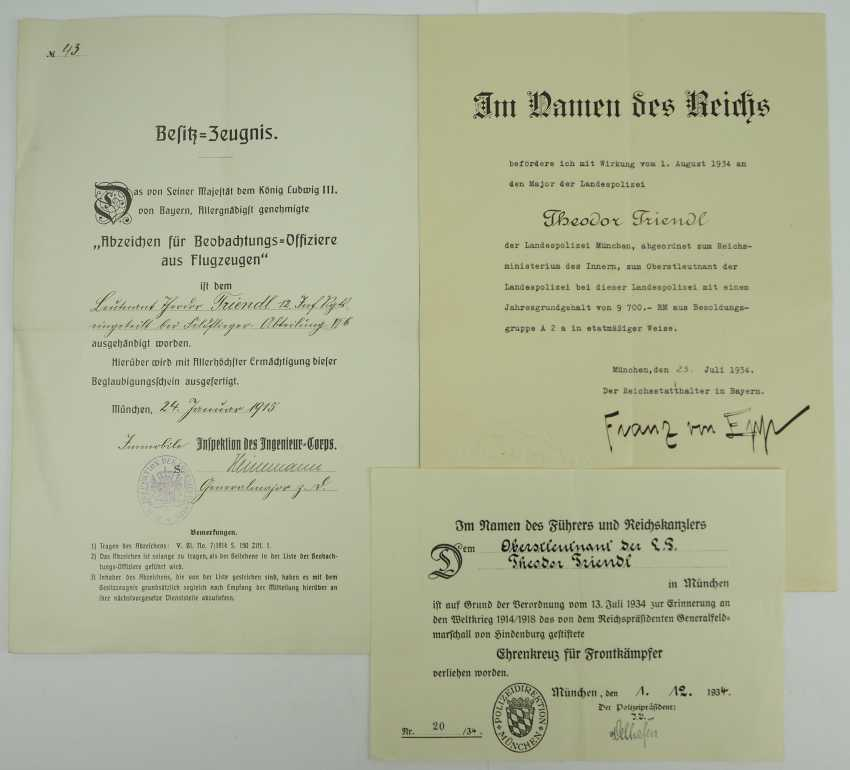 Bavaria: deed estate of the Lieutenant-General and pilot-observer-officer in the field plane-Department 6b. - photo 1