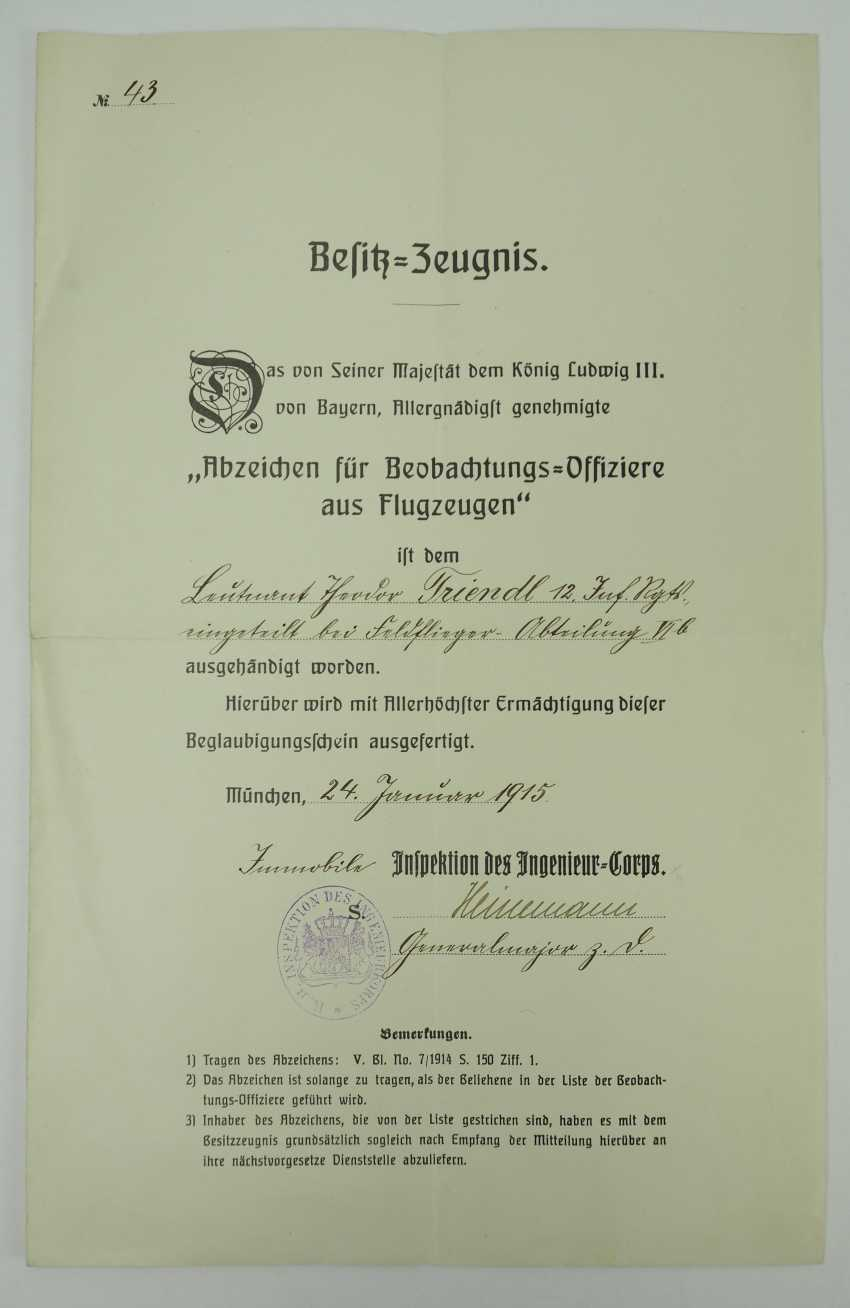 Bavaria: deed estate of the Lieutenant-General and pilot-observer-officer in the field plane-Department 6b. - photo 2