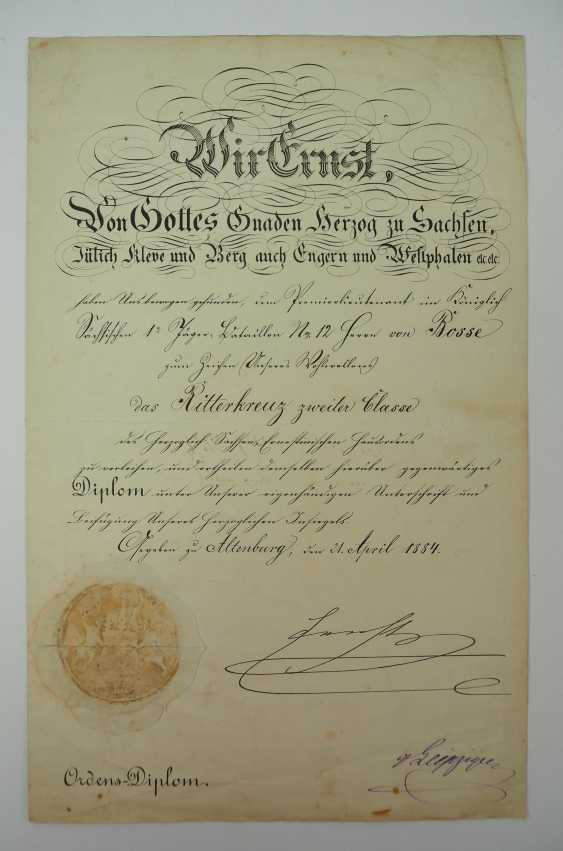 """Saxony: group of certificates of the commander of the 8. Infantry-Regiment """"Prinz Johann Georg"""" No. 107 - 5 Bar. East Asian Infantry Regiment. - photo 6"""
