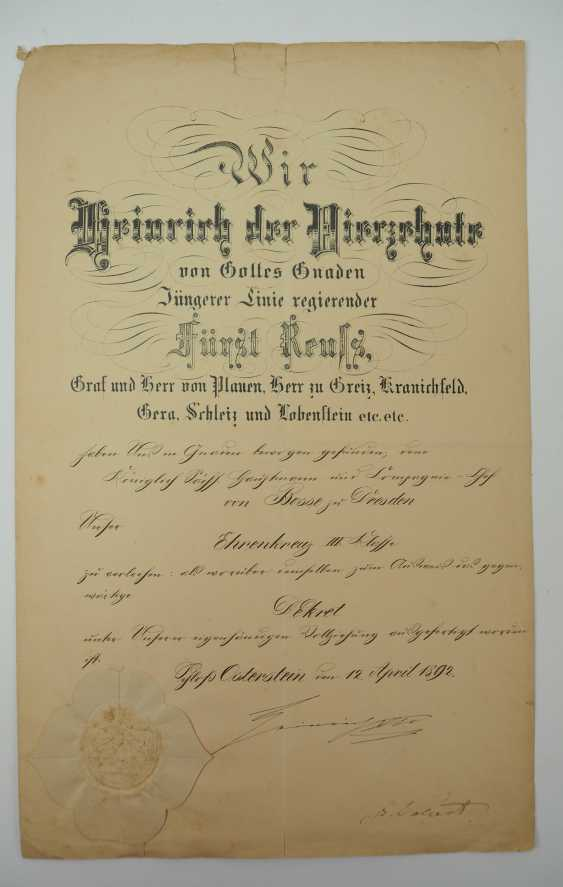 """Saxony: group of certificates of the commander of the 8. Infantry-Regiment """"Prinz Johann Georg"""" No. 107 - 5 Bar. East Asian Infantry Regiment. - photo 7"""