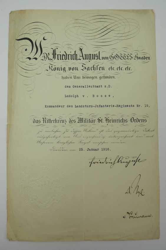 """Saxony: group of certificates of the commander of the 8. Infantry-Regiment """"Prinz Johann Georg"""" No. 107 - 5 Bar. East Asian Infantry Regiment. - photo 10"""