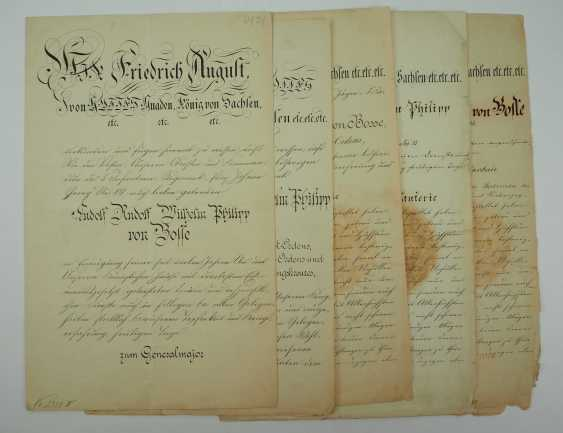 """Saxony: group of certificates of the commander of the 8. Infantry-Regiment """"Prinz Johann Georg"""" No. 107 - 5 Bar. East Asian Infantry Regiment. - photo 12"""