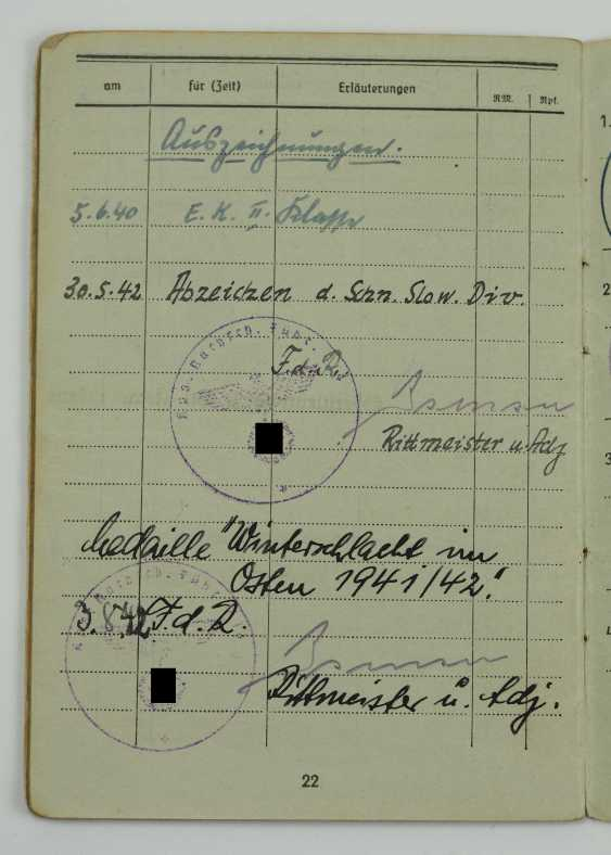 Pay book of a senior physician of the Wehrmacht - Fast Slovak Division. - photo 1