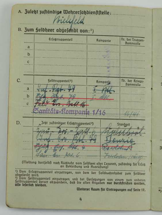 Pay book of a senior physician of the Wehrmacht - Fast Slovak Division. - photo 5