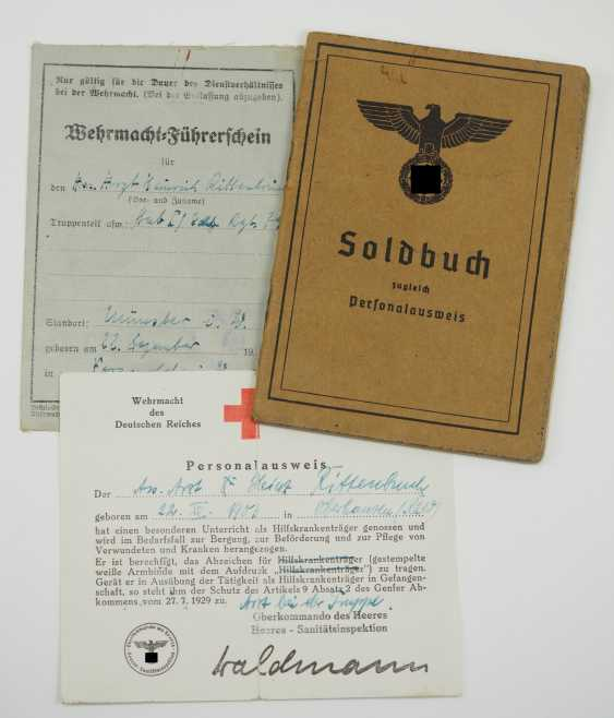 Pay book of a senior physician of the Wehrmacht - Fast Slovak Division. - photo 6