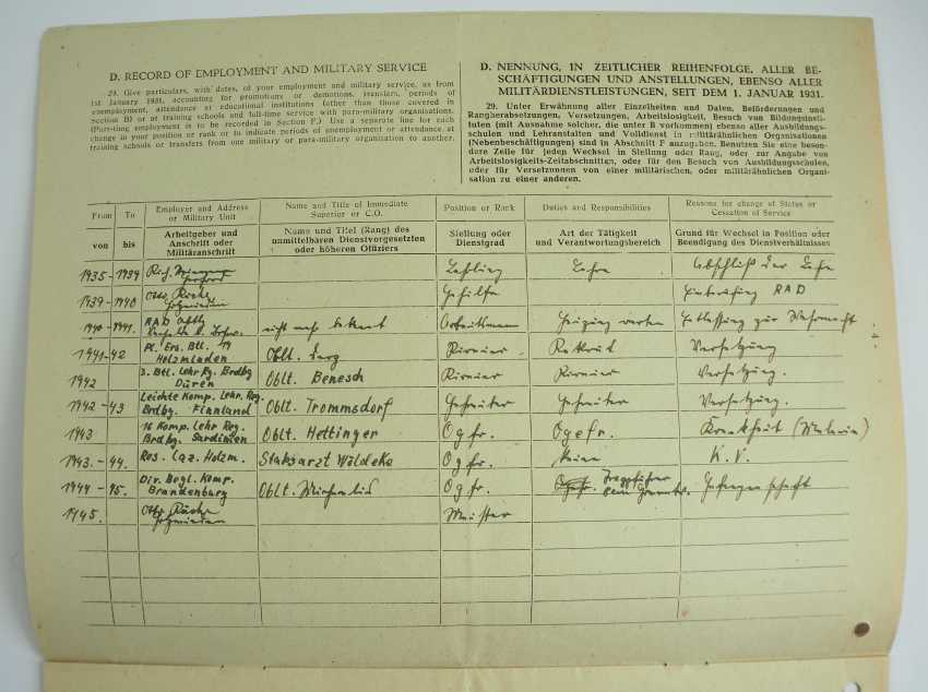 "Estate of a corporal of the 15. (le.)/ Lehr-Regiment ""Brandenburg"" z. b. V. - photo 7"
