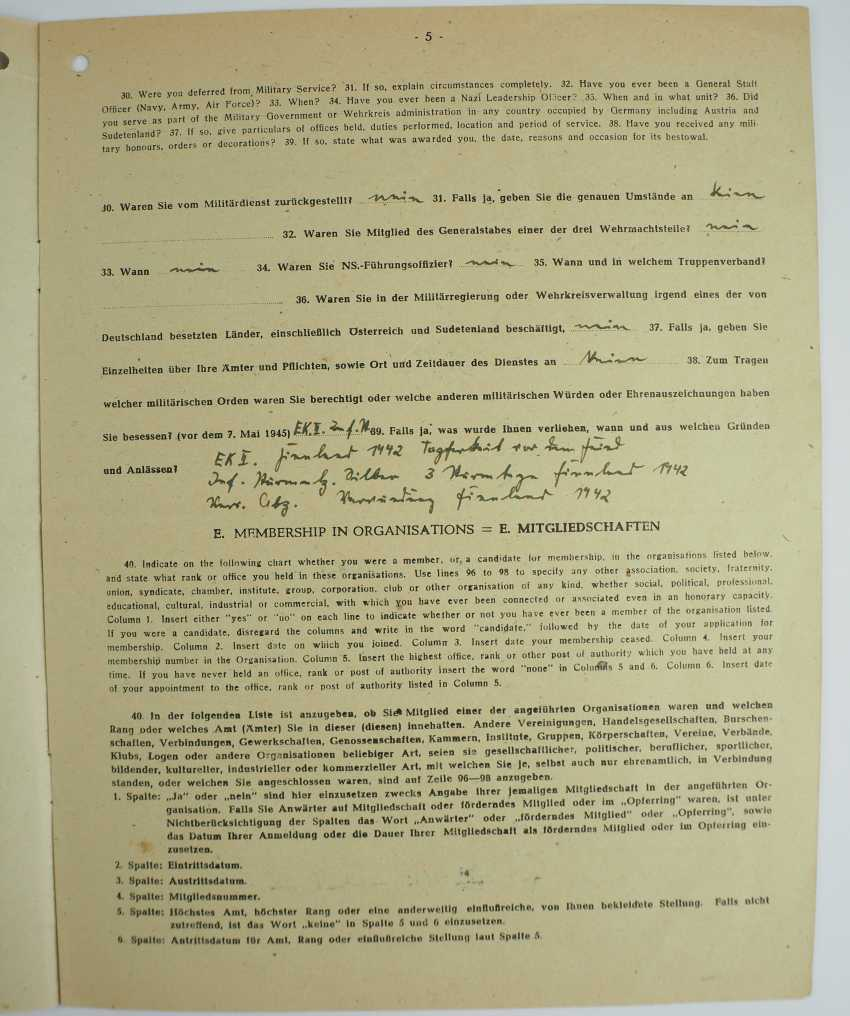 "Estate of a corporal of the 15. (le.)/ Lehr-Regiment ""Brandenburg"" z. b. V. - photo 8"