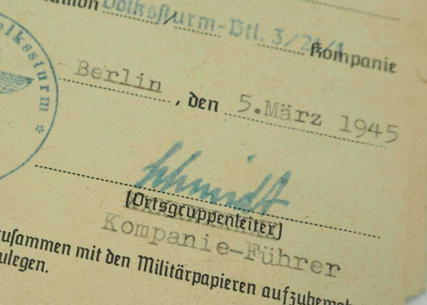 Estate of a group leader of the Volkssturm-Btl. 3/21/1 - Gau Berlin. - photo 2