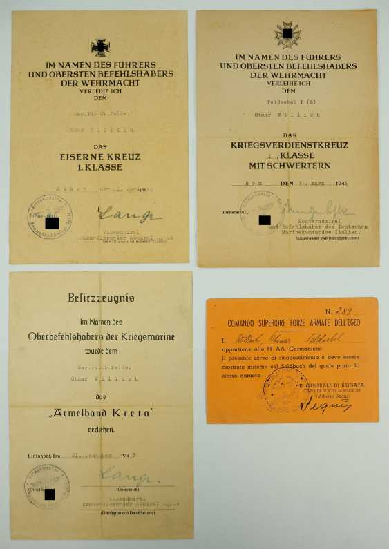 Document group of a Marine pioneer Sergeant of the EGEO - Aegean is. - photo 1
