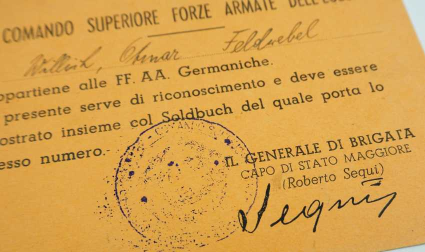Document group of a Marine pioneer Sergeant of the EGEO - Aegean is. - photo 5